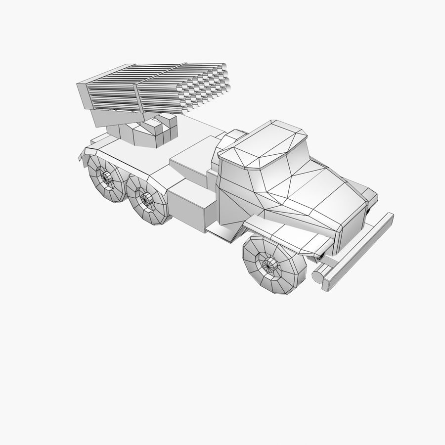 Low Poly BM21 royalty-free 3d model - Preview no. 2