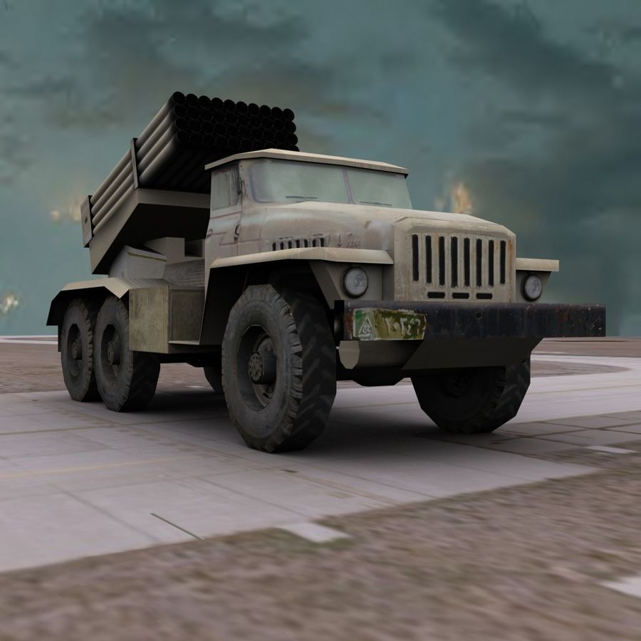 Low Poly BM21 royalty-free 3d model - Preview no. 8
