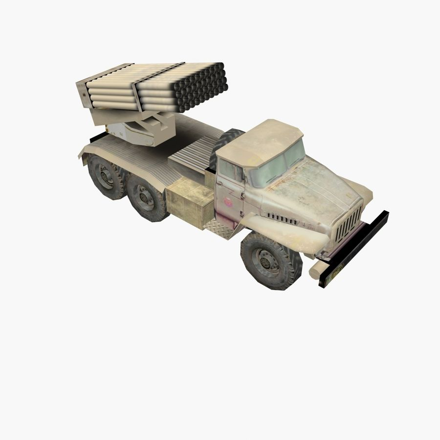 Low Poly BM21 royalty-free 3d model - Preview no. 1