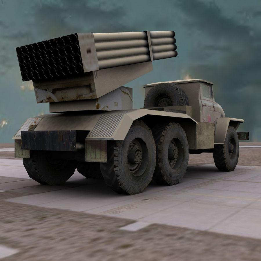 Low Poly BM21 royalty-free 3d model - Preview no. 9