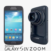 Samsung Galaxy S4 Zoom Android Smartphone in Blue 3d model