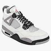 Обувь Air Jordans 4 3d model