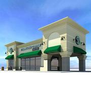 Кофейный ресторан Starbucks 3d model