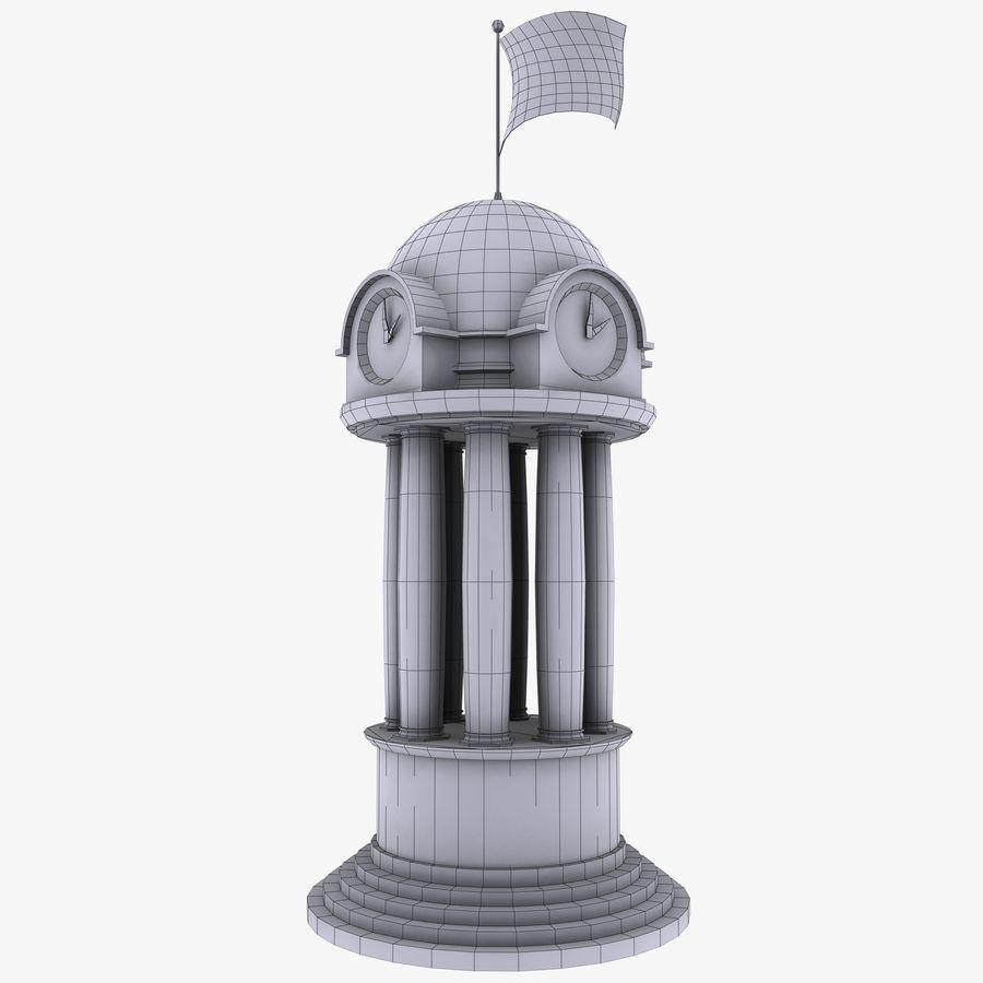 Klocktorn royalty-free 3d model - Preview no. 16