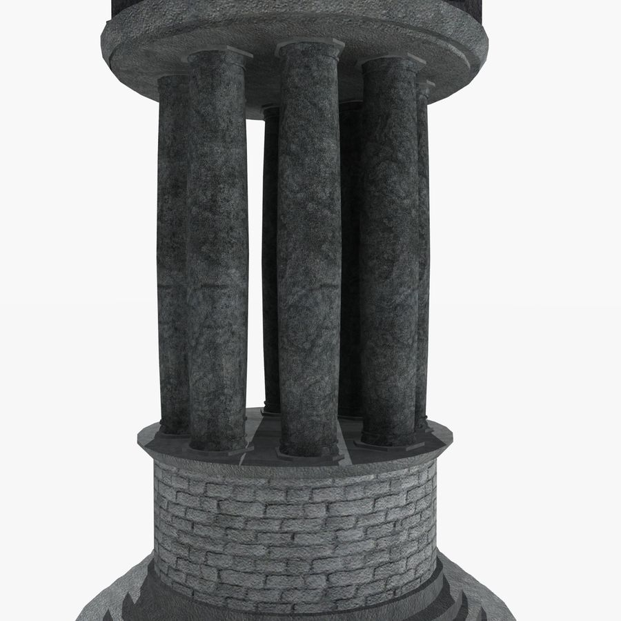 クロックタワー royalty-free 3d model - Preview no. 12