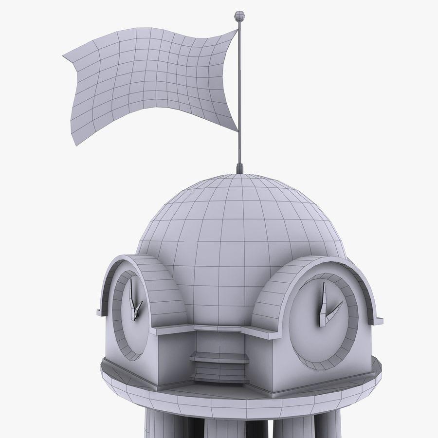 クロックタワー royalty-free 3d model - Preview no. 17