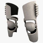 Futuristische soldaat Armor kniebeschermers 3d model