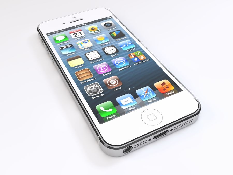 Apple iPhone 5 royalty-free 3d model - Preview no. 11