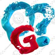 Splash alfabet wysokiej jakości 3d model