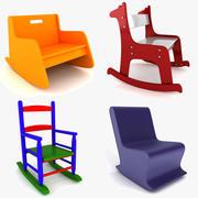 儿童摇椅系列 3d model