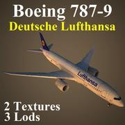 B789 DLH 3d model