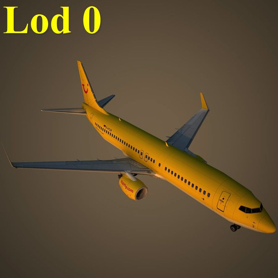 B738 TUI royalty-free 3d model - Preview no. 13