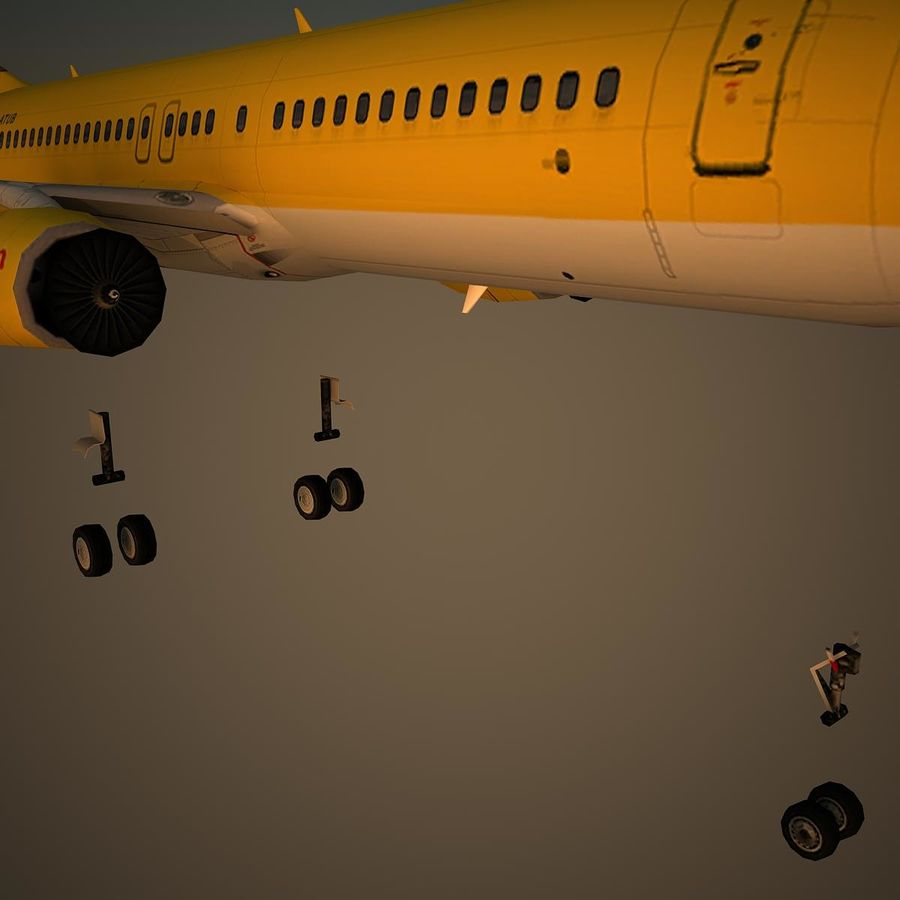 B738 TUI royalty-free 3d model - Preview no. 10
