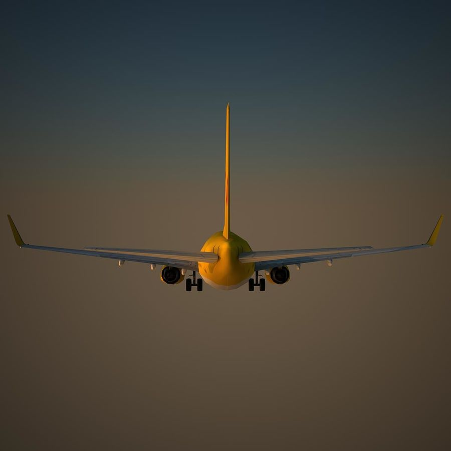 B738 TUI royalty-free 3d model - Preview no. 4