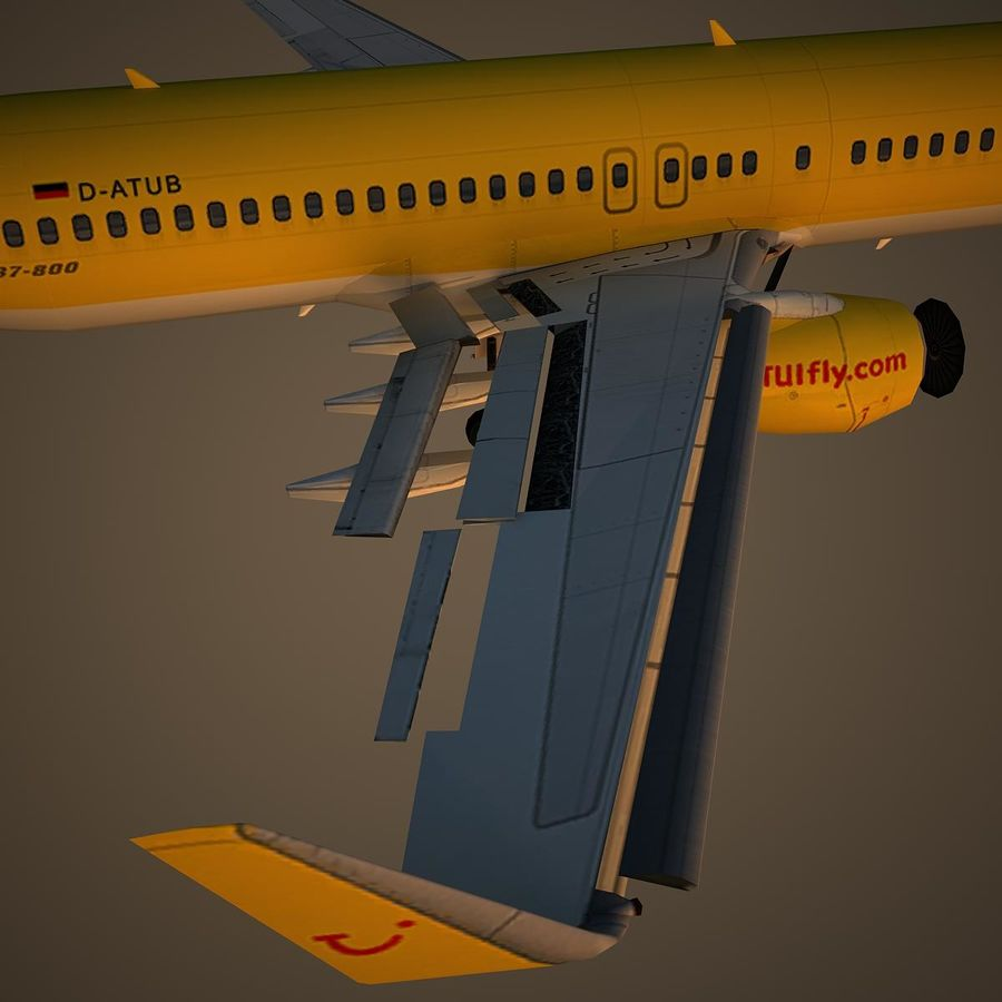 B738 TUI royalty-free 3d model - Preview no. 11