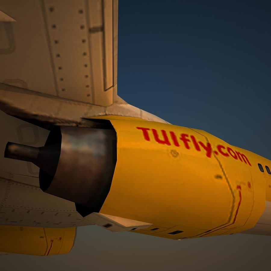B738 TUI royalty-free 3d model - Preview no. 8