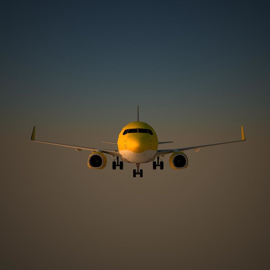 B738 TUI royalty-free 3d model - Preview no. 2