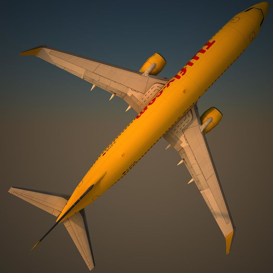 B738 TUI royalty-free 3d model - Preview no. 5