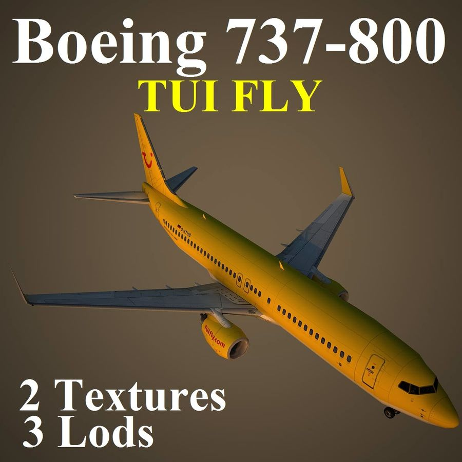 B738 TUI royalty-free 3d model - Preview no. 1