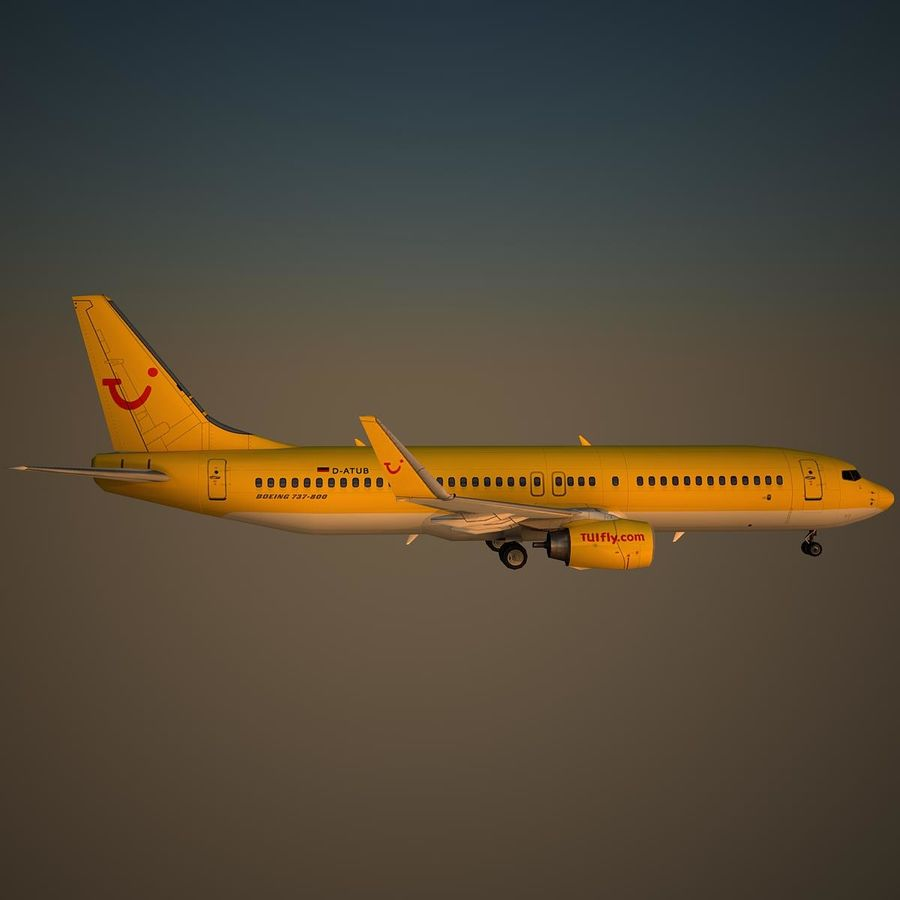 B738 TUI royalty-free 3d model - Preview no. 3