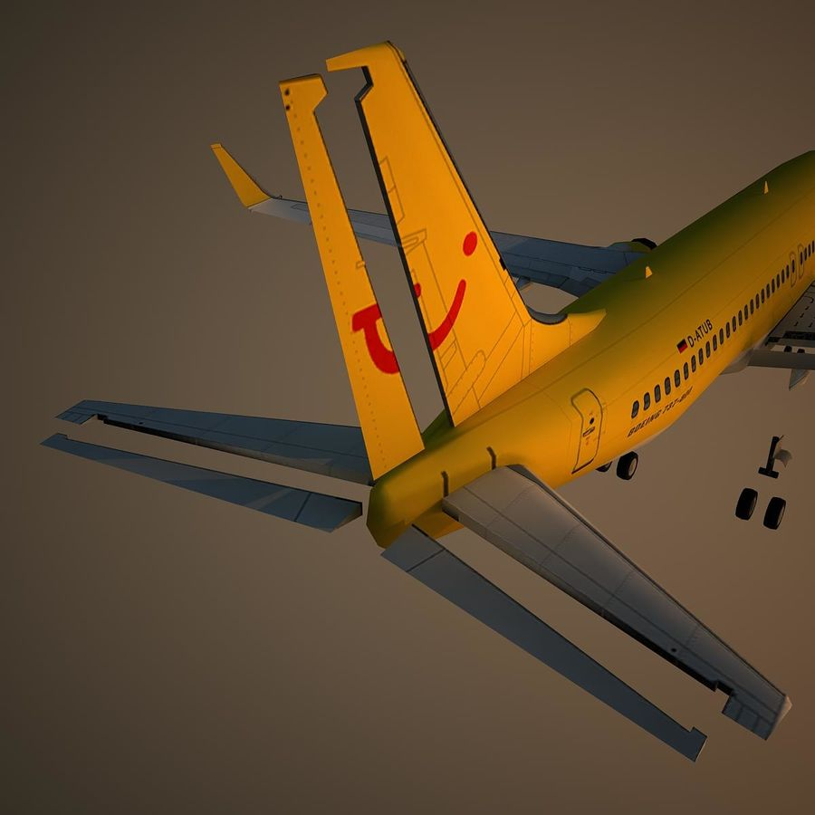 B738 TUI royalty-free 3d model - Preview no. 12