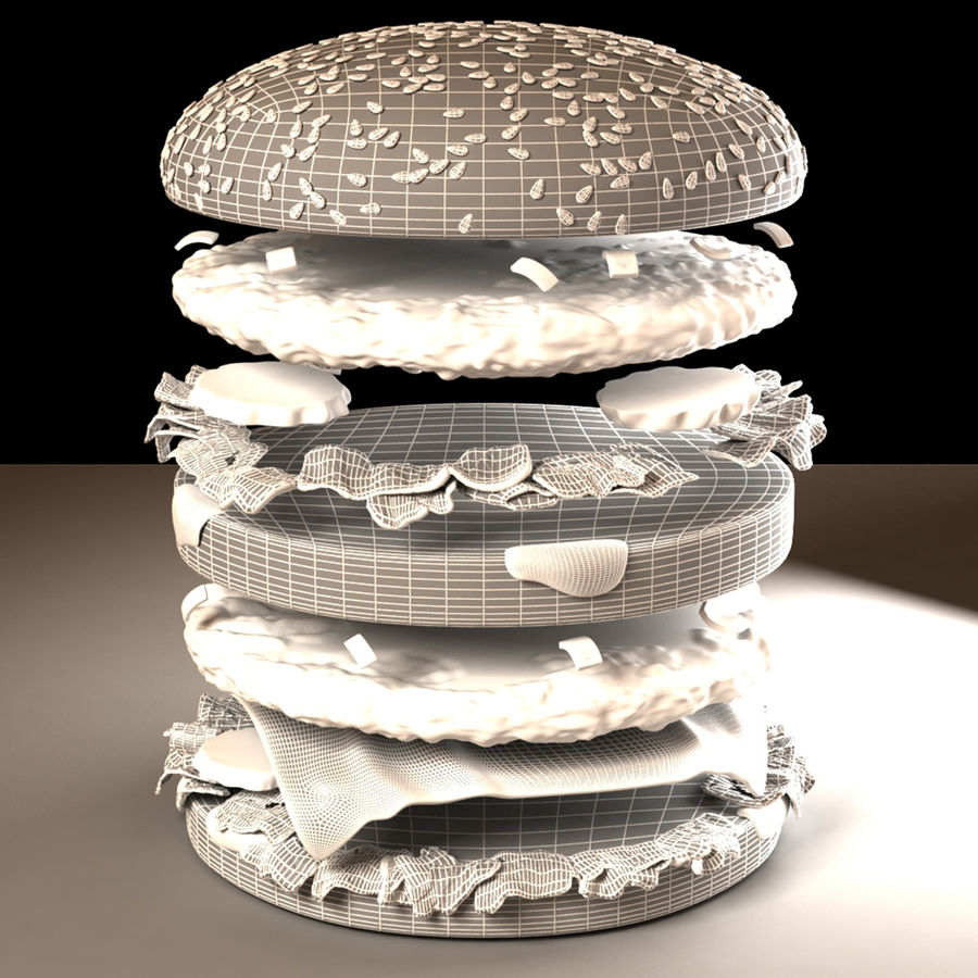 Hamburguesa royalty-free modelo 3d - Preview no. 10