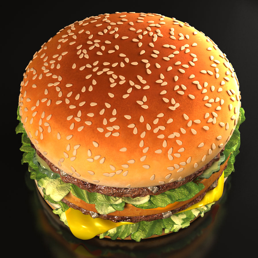 Hamburguesa royalty-free modelo 3d - Preview no. 4