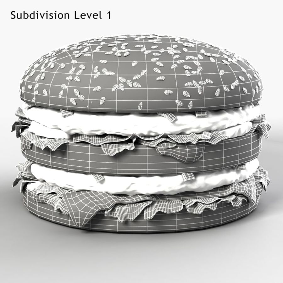 Hamburguesa royalty-free modelo 3d - Preview no. 7