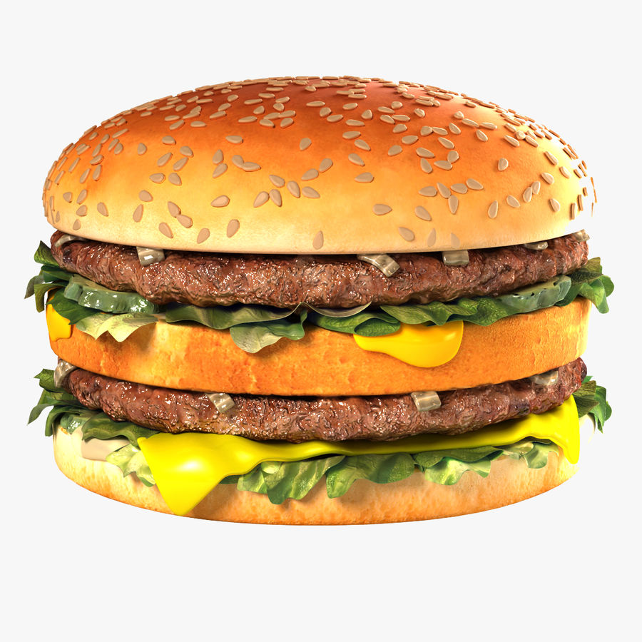 Hamburguesa royalty-free modelo 3d - Preview no. 1