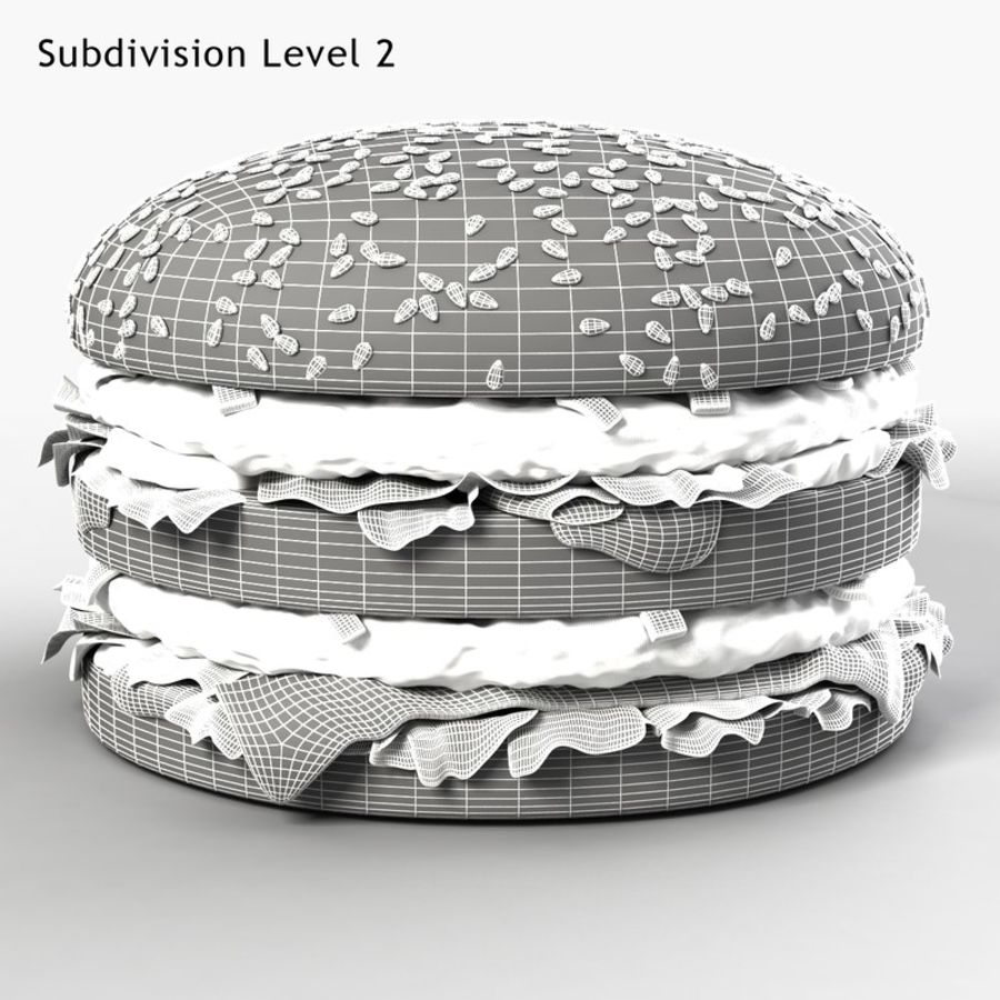 Hamburguesa royalty-free modelo 3d - Preview no. 8