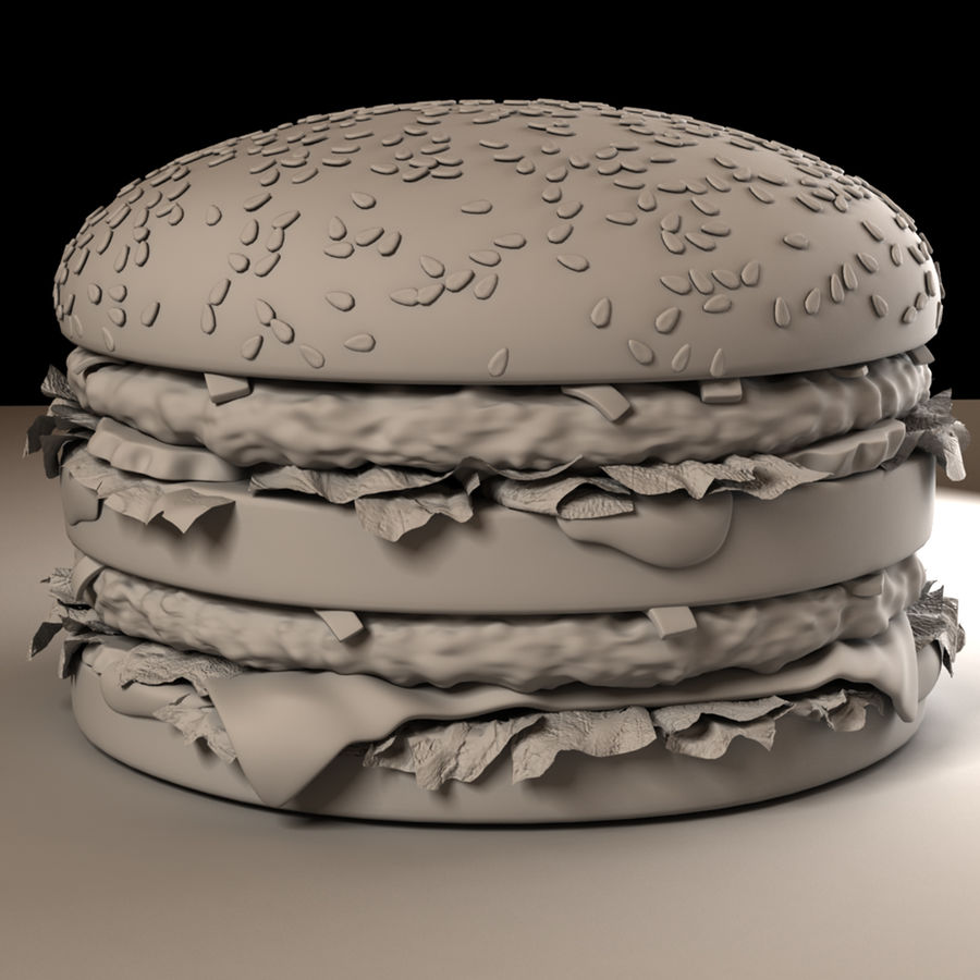 Hamburguesa royalty-free modelo 3d - Preview no. 9