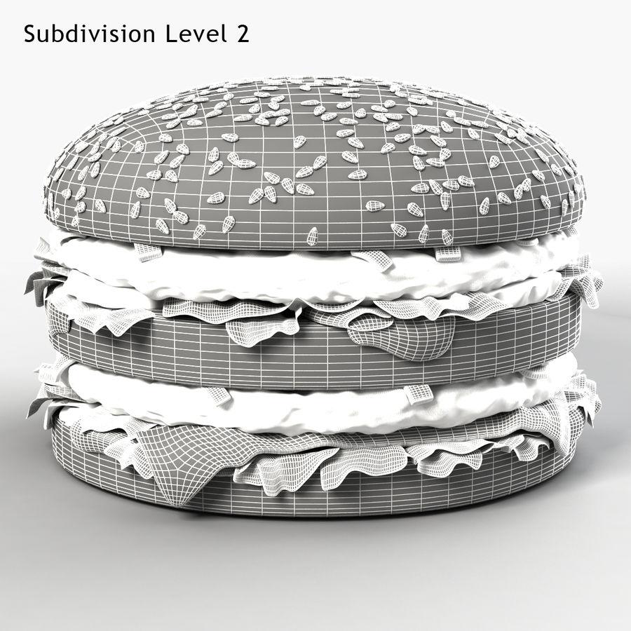 Hamburger royalty-free 3d model - Preview no. 3