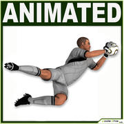 Jogador de futebol branco goleiro CG 3d model