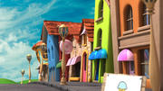 Cartoon straat 3d model