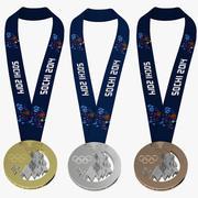 Sochi 2014 Madalya Koleksiyonu 3d model