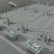 Cena da Subestação Elétrica 3d model