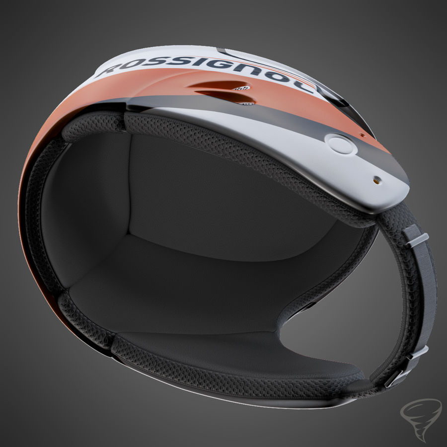 Alpine Helmet royalty-free 3d model - Preview no. 10