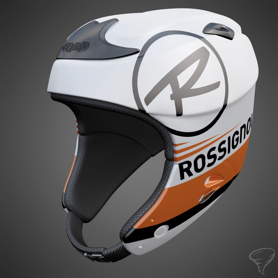 Alpine Helmet royalty-free 3d model - Preview no. 3