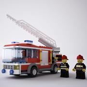 Camion dei pompieri LEGO 3d model