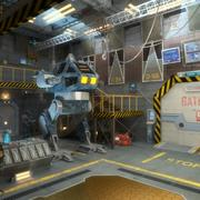 Scène intérieure du hangar de science-fiction 3d model