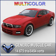 "Generic Muscle Car ""Stallion"" 3d model"