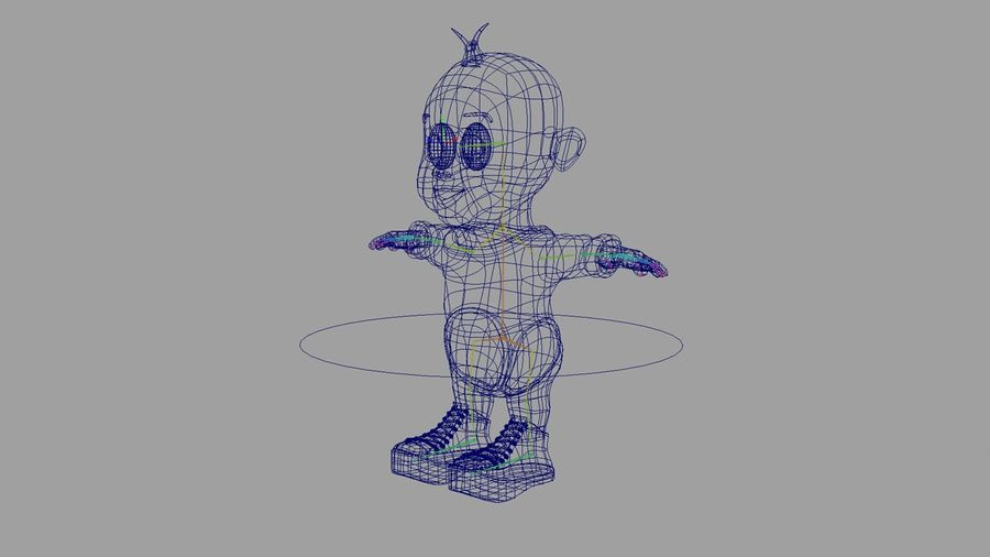 Dessin animé, bébé royalty-free 3d model - Preview no. 11