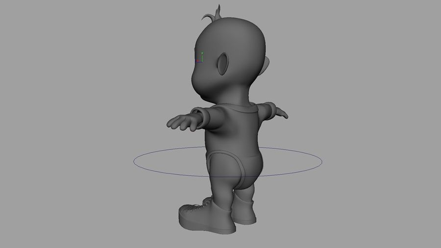 Dessin animé, bébé royalty-free 3d model - Preview no. 9