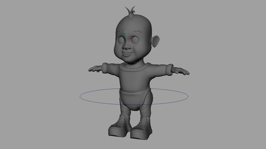 Dessin animé, bébé royalty-free 3d model - Preview no. 7