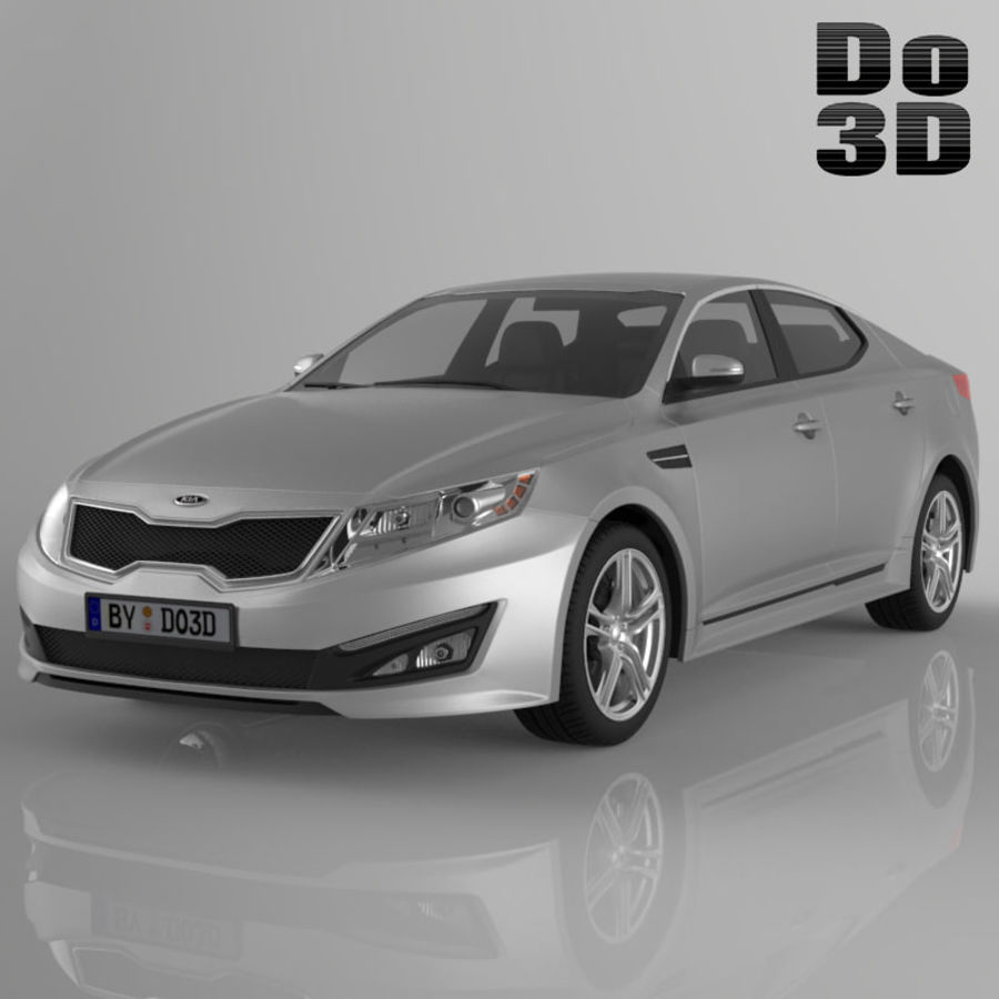Kia Optima 2013 royalty-free 3d model - Preview no. 1