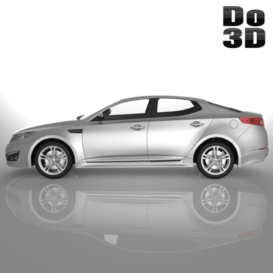 Kia Optima 2013 royalty-free 3d model - Preview no. 3