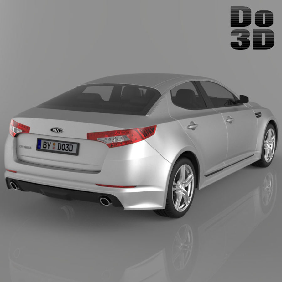 Kia Optima 2013 royalty-free 3d model - Preview no. 2