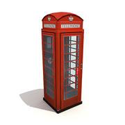 イギリスの電話ボックス 3d model
