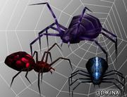 Pakiet animowanych pająków 3d model