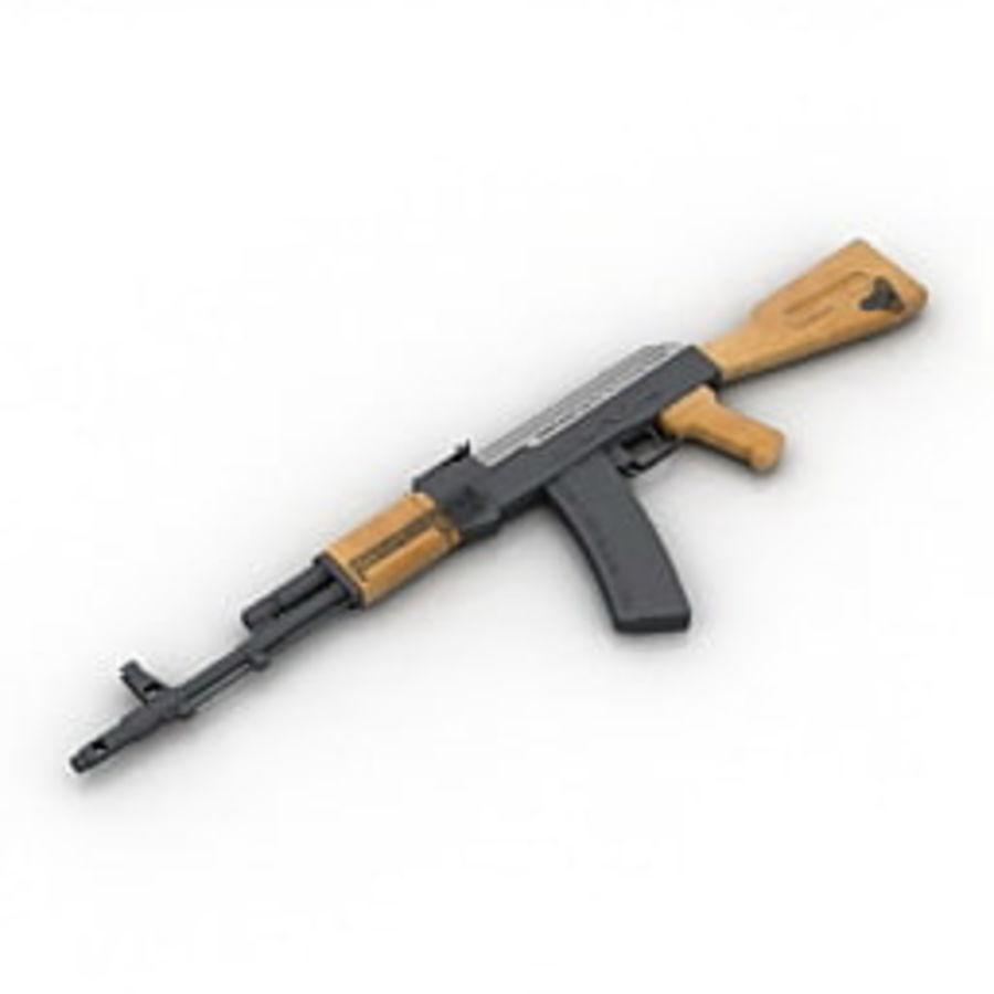 枪AK-47 royalty-free 3d model - Preview no. 3